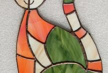 Stained glass animals