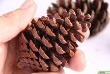 christmas decor diy pinecones