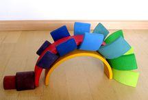 DUHA / Duha - inspirace pro stavby #duha #grims #montessori #waldorf #dřevo #hračky #stavby #tip3dmamablog