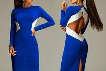 Fall Outfits / winter sexy blue tunic dress