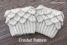 Crochet boot cuffs, leg warmers, wrist warmers