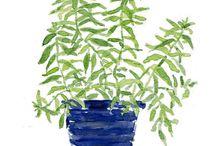 tree painting diy green