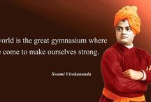"Famous Quotes / Quote of the Week: ""The world is the great gymnasium where we come to make ourselves strong"" ‪#‎SwamiVivekananda‬"