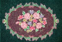 Hooked Rugs and Kits:  Floral Designs / Hooked Rugs and Kits:  Floral Designs from Little House rugs