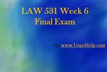 Business LAW 531 Week 6 Final Examination / Get the best help available online to the Business LAW 531 Week 6 Final Examination and score the highest grades in class.