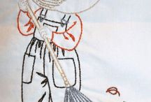 Контурная вышивка