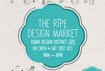 The Ripe Design Market at Dubai Design District 2015 / The Ripe Design Market brings the region's best local, small businesses, comprising of artists, designers, and culinary delights together to the gourds of Dubai Design District (D3) to showcase their work in a relaxed, family atmosphere.  The market includes entertainment from local artists, activations, pop-up shops and workshops for children, presented by the makers and designers themselves.