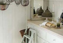 White & vintage kitchens