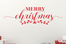 Christmas Wall Decals - Unique Wall Decals / Your insider spot for the most unique Holiday Decor ideas
