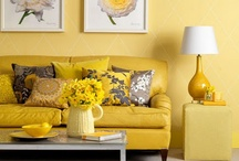 living room: yellow and blue