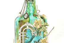 Altered bottles etc. Gepimpte flessen