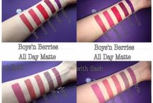 Swatches Lip Products