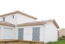 REALISATIONS MODELE EQUATION - AMI BOIS / Quelques unes des maisons construites par Ami Bois et inspirées du modèle à deux niveaux EQUATION Plus de renseignements sur http://www.ami-bois.fr/