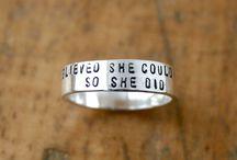 Stamped Rings