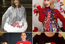 Ugly Holiday Sweaters / Don't spend a fortune buying a pre-made holiday sweater! Create your own with supplies from Triad Goodwill!