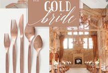 The rose gold bride