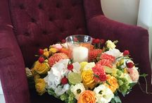 Wedding flowers table at Flowers of joy