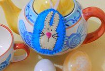 Easter  felts   (my work ) / Easter  felts