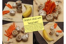 Fun ideas with food / Presenting food in a fun and attractive way will encourage toddlers to eat it.