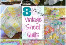 vintage sheet kwilt