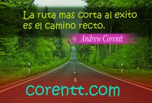 Frases de Andrew Corentt / Tablero con frases de Andrew Corentt http://www.corentt.com/abundancia-infinita.htm