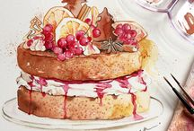 #Cake 's #Illustration / #Cakes & #Sweets narrated from the #illustration