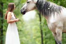 Shoot paard + trouwjurk