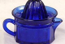 Blue glass vintage Love the blues