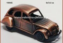 Mπομπονιέρες βάπτισης vintage μεταλλικά αυτοκινητάκια
