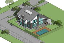 Droomhuis Nederland / Een vernieuwend ontwerp, eigentijds vormgegeven. Binnenkort meer informatie op onze website www.bongersarchitects.nl