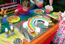 Rainbow Party Ideas / For more photos of the Rainbow party - check out my facebook photos - https://www.facebook.com/media/set/?set=a.10150151212221364.284499.587036363&type=1&l=a8de009043
