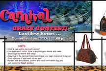 Last Few Hours to Enter Our Carnival Contest! / Hey there Baggititans, as you know we're having a fabulous new carnival themed contest! Grab a bag and get to showing off your creativity while being true to the theme. The most liked design will win a super cute Baggit goodies! Contest ends on 25th October 11.00 p.m so hurry and get crazily creative!