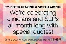 Better Hearing and Speech Month / Lingraphica is celebrating the hard work of #SLPeeps and #AUDPeeps all month long. Happy Better Hearing and Speech Month! #BHSM