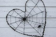 drátkované srdička pavučiny