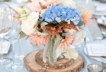 Blue Coral Peach Wedding Inspiration