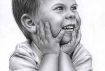 Karakalem cocuk çizimleri