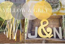 žluto-šedá svatba