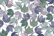 Patterns with Leaves / Floral patterns with leaves. / by Pattern Design