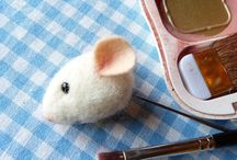 tutorials: needle felting (mouse)