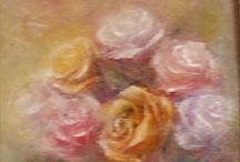 PAINTING OF SALE / flowers oil painting on canvas art.iacob@yahoo.ro