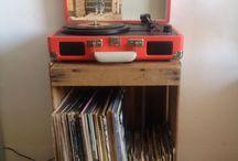 Caja de madera tocadiscos / Idea para organizar tu tocadiscos y vinilos