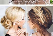 wedding hair style & makeup & nails