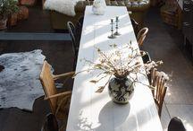 Narrow dining room