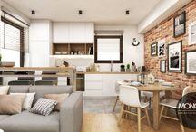 Jasne, ciepłe mieszkanie w nowoczesnym stylu / Na dziś jasne, ciepłe i przytulne wnętrze w nowoczesnym stylu. Niewielka, otwarta przestrzeń kuchni i salonu zyskała na funkcjonalności, a dzięki zastosowaniu jasnych kolorów stała się optycznie większa.  Po więcej inspiracji zapraszamy na Naszą stronę internetową:biuro@monostudio.pl oraz na Facebooka