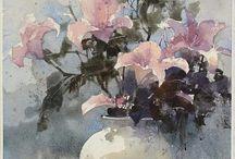 liliom fehér vázában