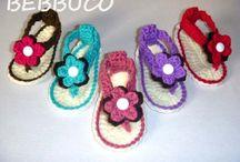 zapatos y sandalias crochet