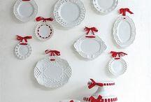 Plates on walls