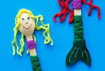 Ocean puppets and felt board story