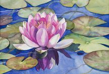 Watercolor flowers / Watercolor paintings of lowers, plants or anything related
