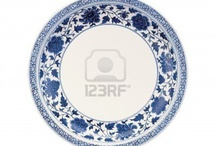 Porcelana clásica azul y blanca
